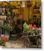 Monterosso Outdoor Shop Metal Print