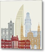 Montevideo Skyline Poster Metal Print