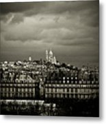 Montmartre Black And White Metal Print