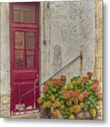 Montmartre Doorway Metal Print