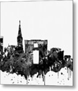 Montpellier Skyline-black Metal Print
