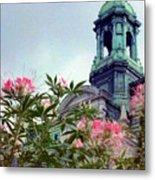 Montreal Bldg Among Flowers Metal Print