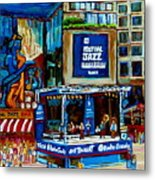 Montreal City Paintings By Streetscene Specialist Carole Spandau  Over 500 Prints Available Metal Print