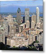 Montreal City Panorama From Mount Royal Quebec Canada Metal Print