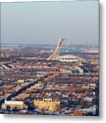 Montreal Cityscape With Olympic Stadium Metal Print