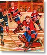 Montreal Forum Hockey Game Metal Print