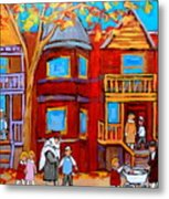 Montreal Memories Of Zaida And The Family Metal Print