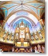 Montreal Notre-dame Basilica Metal Print