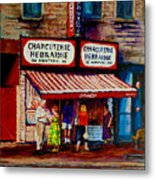 Montreal Paintings  Available For Fundraisers By Streetscene  Artist Carole Spandau  Metal Print