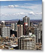 Montreal Seen From Above Metal Print
