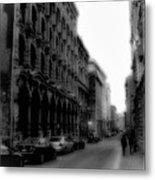 Montreal Street Black And White Metal Print