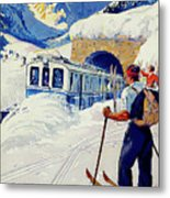 Montreux, Berner Oberland Railway, Switzerland, Winter, Ski, Sport Metal Print