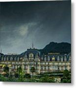 Montreux Palace Metal Print
