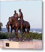 Monument In Nauvoo Illinois Of Hyrum And Joseph Smith Riding Their Horses Metal Print