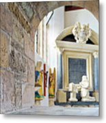 Monument In St Mylor Church Metal Print
