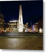 Monument On The Dam In Amsterdam Netherlands At Night Metal Print