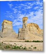 Monument Rocks In Kansas 2 Metal Print