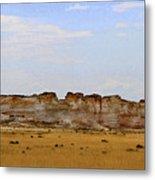 Monument Rocks In Western Kansas Metal Print