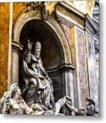 Monument To Pope Gregory Xiii In St Peter's Basilica Metal Print