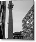 Monument To The Great Fire Of London Bw Metal Print