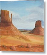 Monument Valley    The Mittens Metal Print