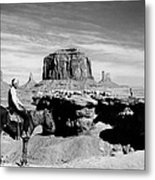 Monument Valley: Butte Metal Print