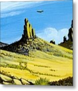Monument Valley Eagle Rock Metal Print