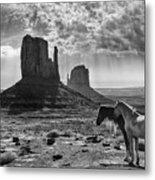 Monument Valley Horses Metal Print