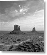 Monument Valley Monochrome Metal Print