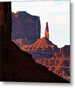 Monument Valley Pano Work D Metal Print