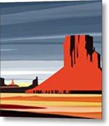 Monument Valley Sunset Digital Realism Metal Print