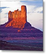Monument Valley Sunset One Metal Print