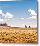 Monument Valley Wide Angle Metal Print