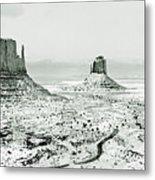 Monument Valley, Winter Metal Print