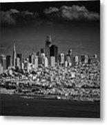 Moody Black And White Photo Of San Francisco California Metal Print