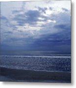 Moody Blue Beach Metal Print