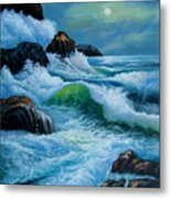 Moody Shores Metal Print
