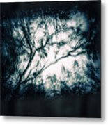 Moody Tablet Reflection Metal Print