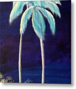 Moolight Beach Metal Print
