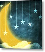 Moon And Stars Metal Print by Setsiri Silapasuwanchai