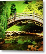 Moon Bridge At Huntington Metal Print