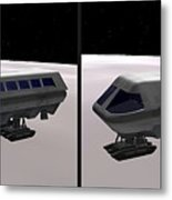 Moon Bus - Gently Cross Your Eyes And Focus On The Middle Image Metal Print