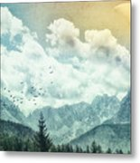 Moon By Day Metal Print