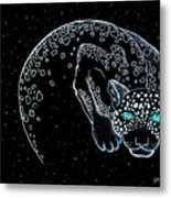 Moon-cat  Metal Print