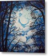 Moon Clouds Metal Print