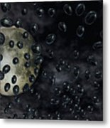 Moon Drops Metal Print