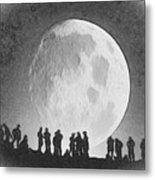 Moon - Id 16236-105000-9534 Metal Print