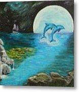 Moon Light Swim  Metal Print