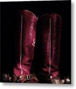 Moon Lite Boots Metal Print