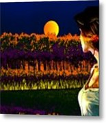 Moon Love Metal Print